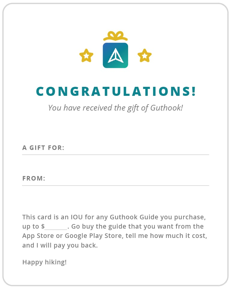 A downloadable card to give the gift of Guthook