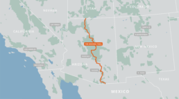 A map of the Arizona Trail.