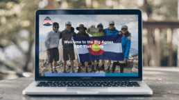 A laptop shows the Big Agnes guide to the CDT.