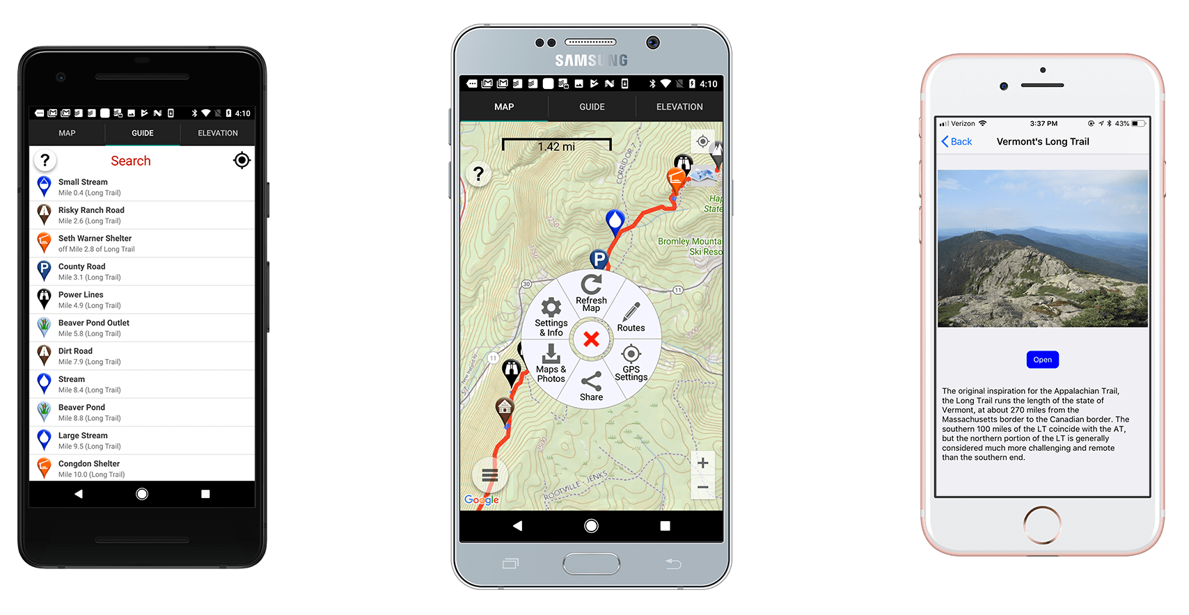 The Long Trail Hiking Guide - Guthook Guides