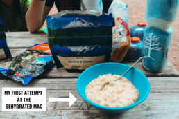 Dehydrated mac n cheese while camping at Havasupai Falls.