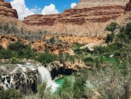 Navajo Falls in Havasu Canyon.