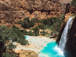 A beautiful view from the top of Havasupai Falls.