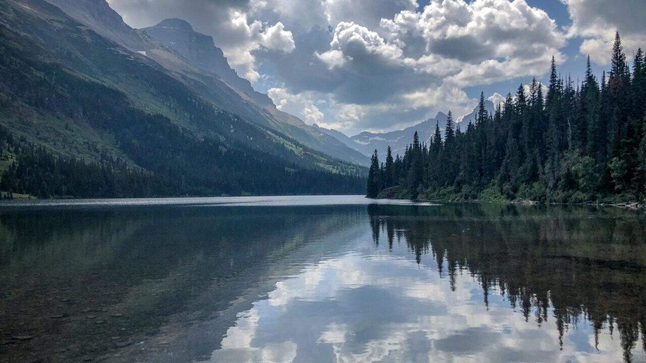 A view of a lake.