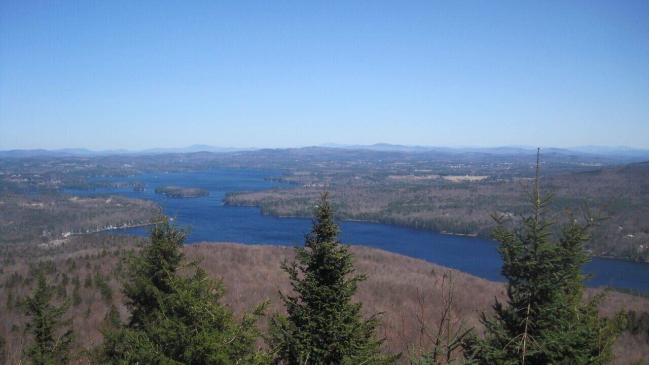 View of lake Sunapee from a mountain