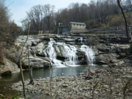 Waterfall on the Housatonic River in Connecticut