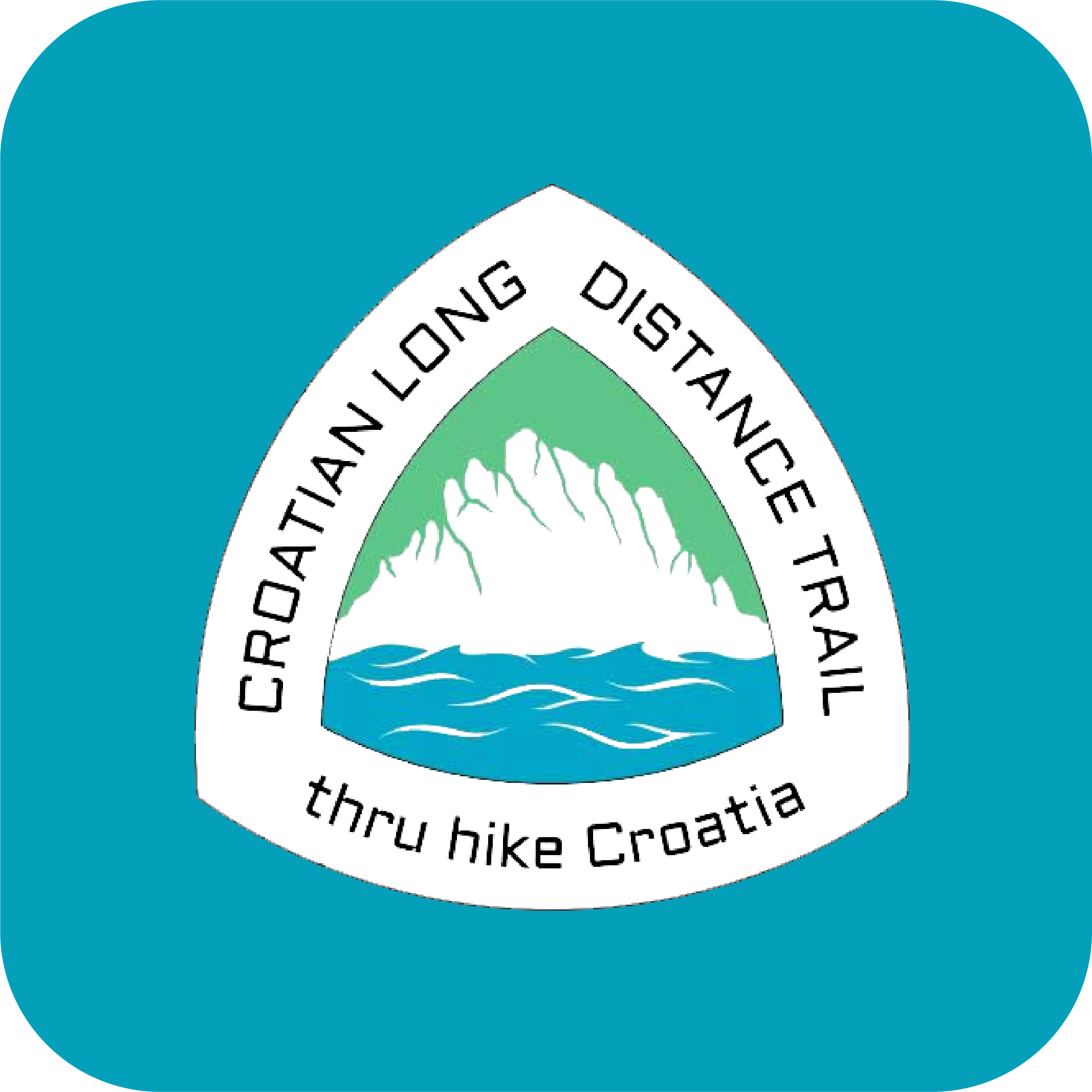 App icon for the Croatian Long Distance Trail.