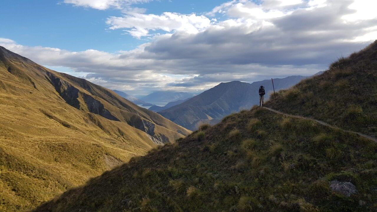 A hiker on the Te Araroa.