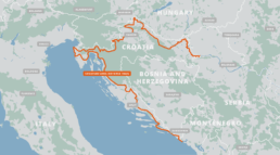 A map of the Croatian Long Distance Trail.