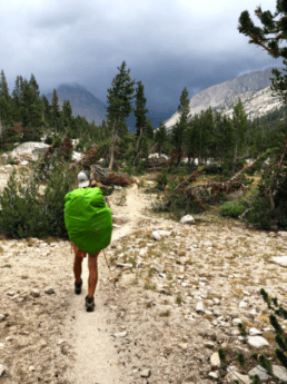 A hiker on the John Muir Trail.