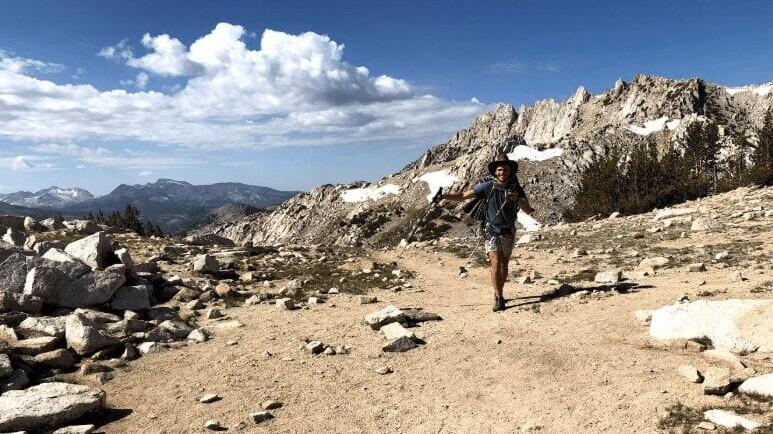 A hiker on the John Muir Trail.