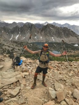 A hiker on the Pacific Crest Trail.