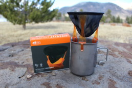 GSI Outdoors Ultralight Java Drip coffee maker.