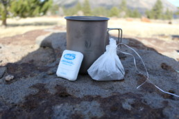 A way to make coffee when you're camping or backpacking.