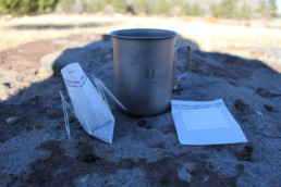 A way to make coffee when you're backpacking or camping.