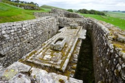 Communal latrine at Housesteads Roman Fort