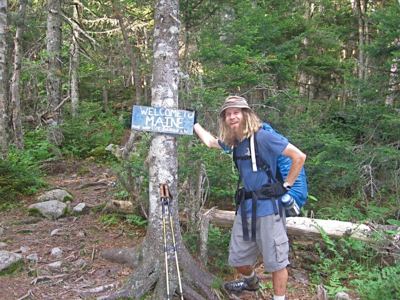 Guthook hiking the Appalachian Trail.
