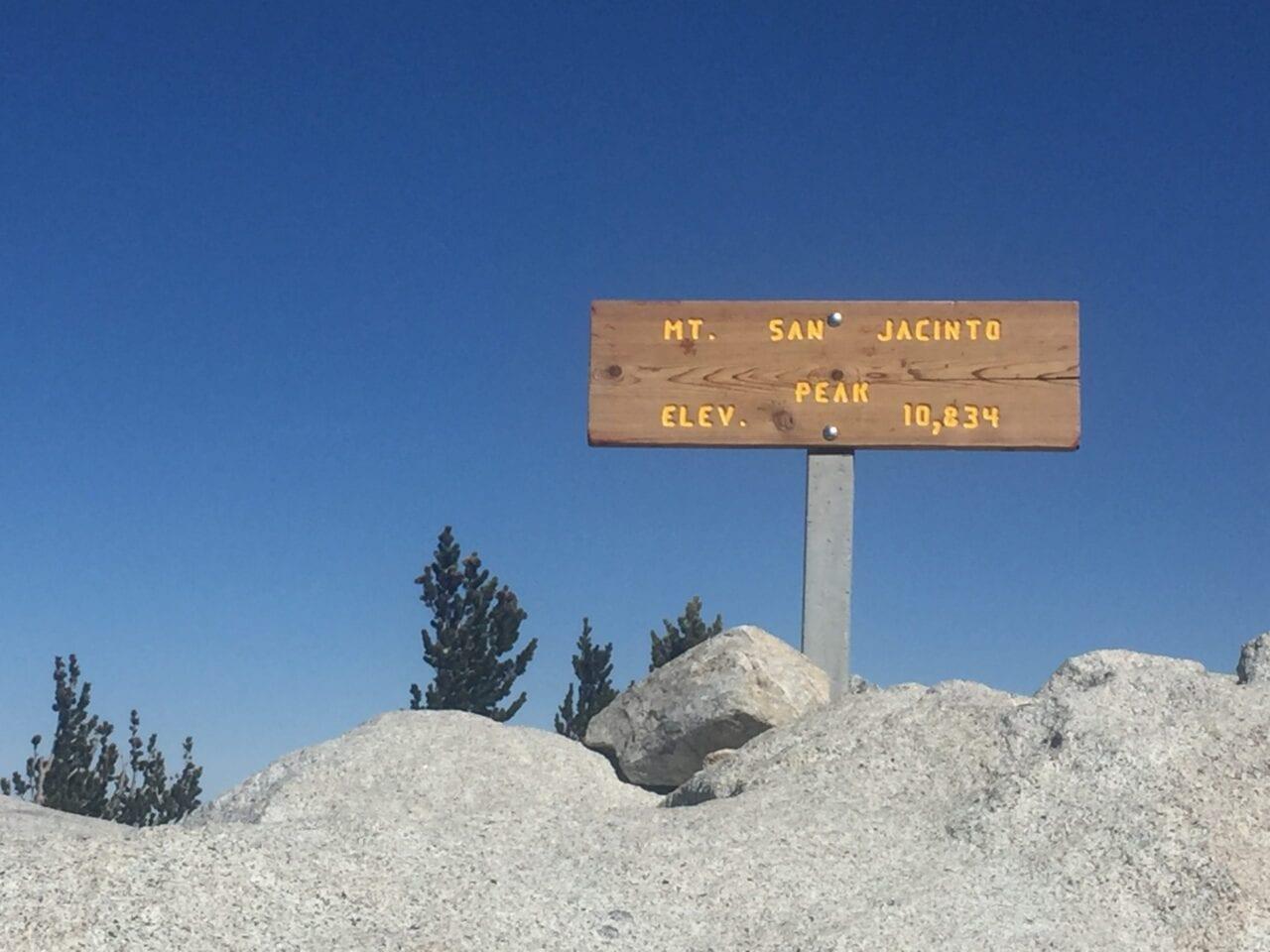 Mt. San Jacinto sign